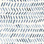 Herinbone pattern in indigo Watercolor by Studio Salz