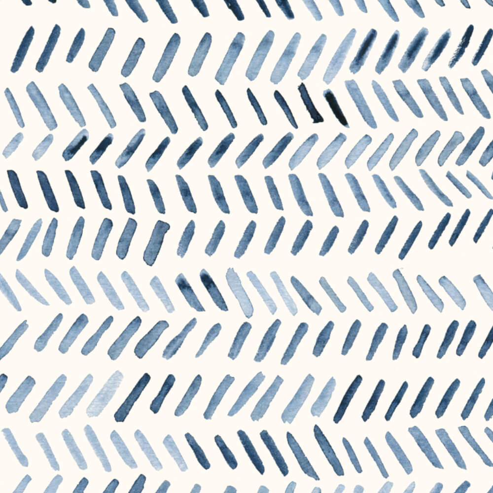 Herinbone pattern in indigo Watercolor by Studio Salz